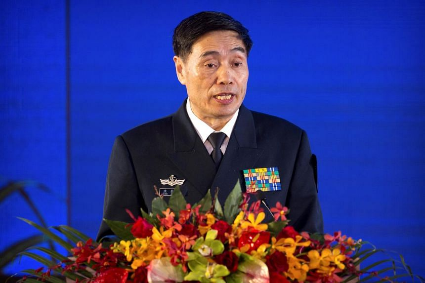 "China's navy chief Shen Jinlong said everyone needed to follow the rules and ""safeguard good order""."