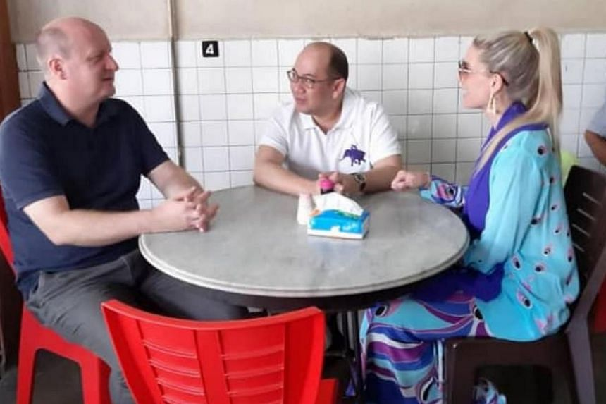 Kelantan Crown Prince Tengku Muhammad Faiz Petra (centre) and his wife Sofie Louise Johansson had their breakfast at Kopitiam Kuan Heong Huan in Kota Baru, with 22 others believed to be close friends and others from the royal family.