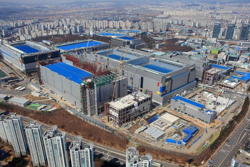 Samsung's semiconductor production facility in Hwaseong, South Korea, April 16, 2019.