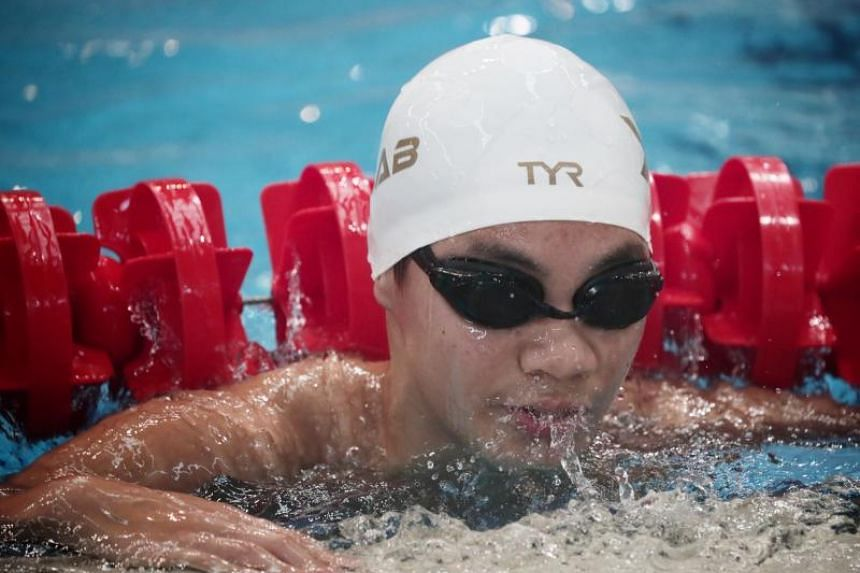 Evergreen Secondary School student Sheldon Tan placed second in the Boys' 13-14 400m freestyle finals in the National School Swim Championships at OCBC Aquatic Centre on April 24, 2019.