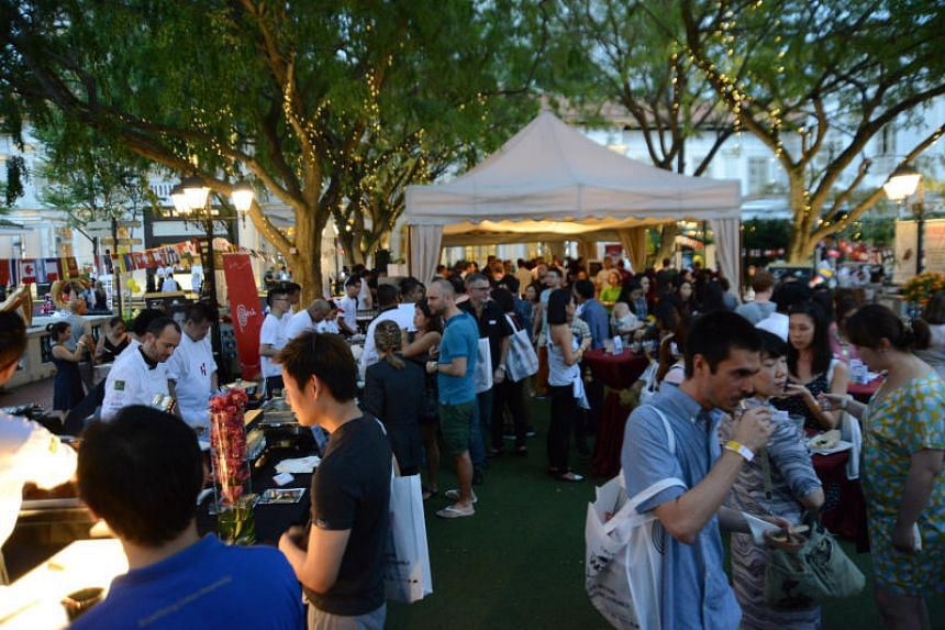 Chijmes was transformed into a gourmet marketplace at the World Gourmet Summit 2017.