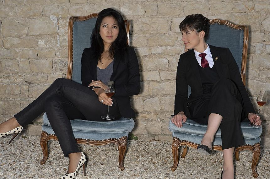 Paris-based entrepreneur Sabrina Duong (left) and Dublin-based sommelier Julie Dupouy teamed up with the Vallantin-Dulac family - master blenders of cognac since the 18th century - to create Exsto, which comes in two blends (right): Exsto Or Imperial