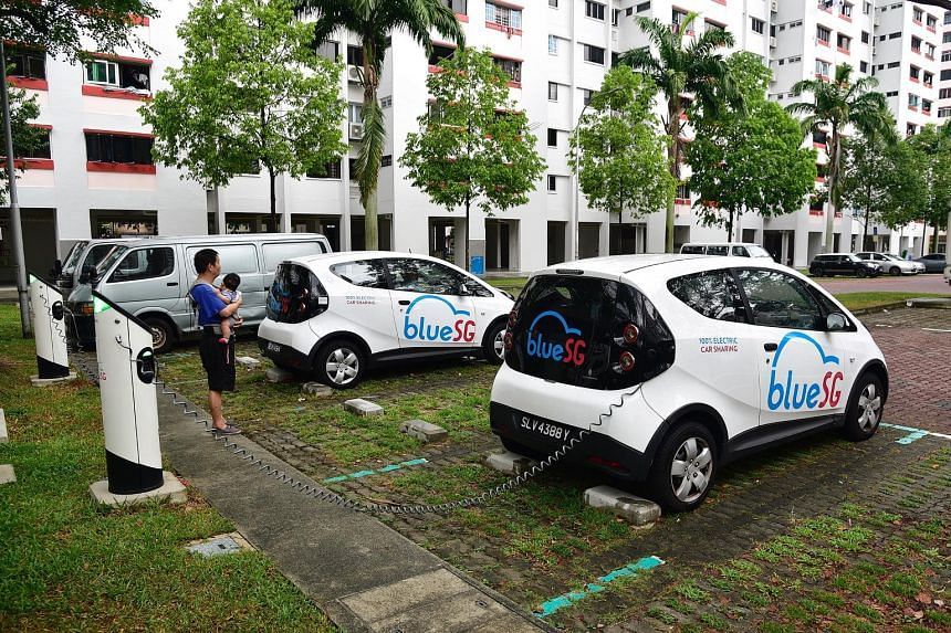 BlueSG has opened up 99 chargers across 25 locations, including HDB estates, for public use. These chargers constitute 13 per cent of the electric car-sharing firm's network.