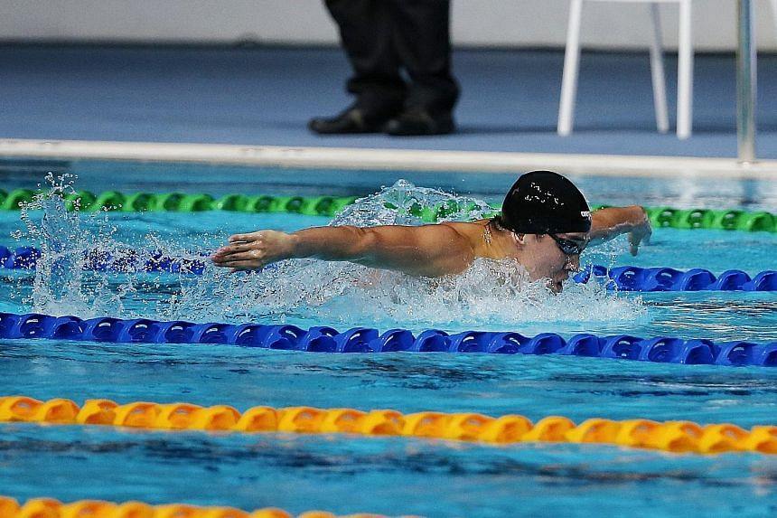 Quah Zheng Wen on his way to the 200m butterfly gold at the 2017 SEA Games in Kuala Lumpur. He believes he has the potential to better his personal best and is upbeat on doing well at the July world championships.