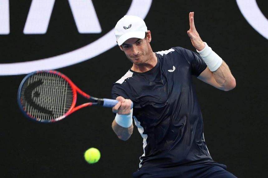 Britain's Andy Murray in action at the first round of the Australian Open in the Melbourne Arena, Australia, on Jan 14, 2019.