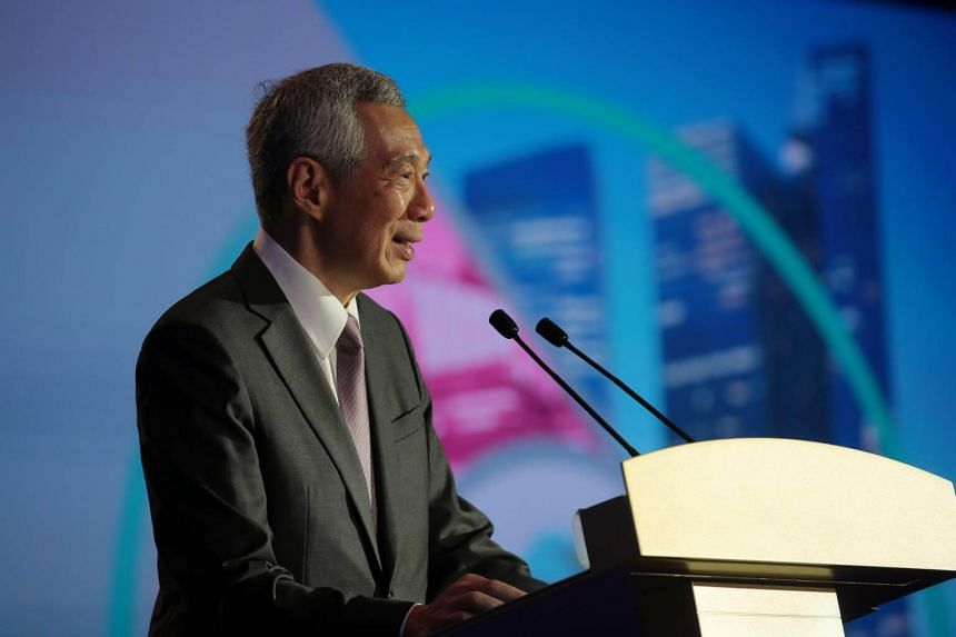 Prime Minister Lee Hsien Loong at the 29th Inter-Pacific Bar Association conference on April 25, 2019.