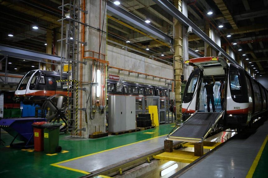 Transport Minister Khaw Boon Wan announced plans for the integrated train testing centre during a visit to SMRT's new operations control centre at Kim Chuan depot yesterday.