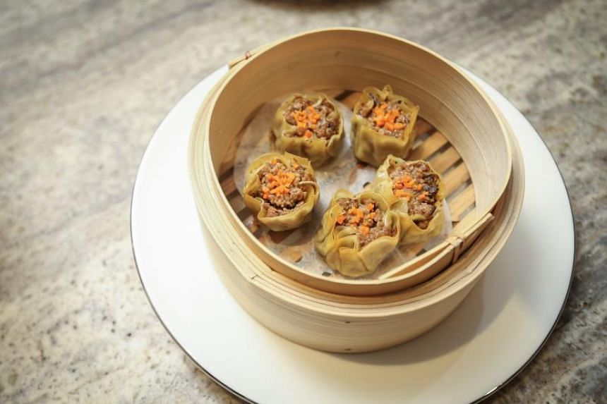 Dumplings by Shiok Meats, which are made with shrimp grown from shrimp cells.