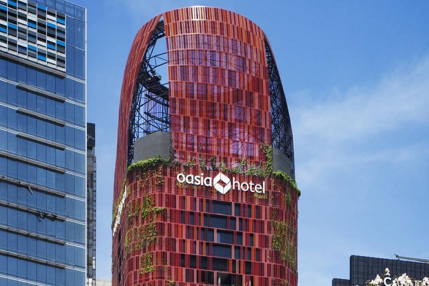 Net property income was 9 per cent higher at $25.1 million, boosted by additional contribution from Oasia Hotel Downtown.