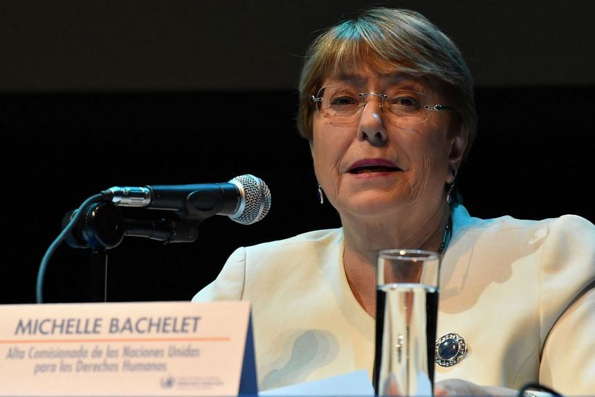 """Bachelet (above) said it was """"particularly abhorrent that at least three of those killed were minors at the time of their sentencing""""."""