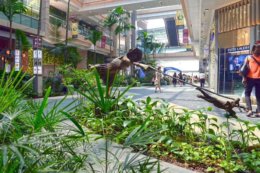 Westgate mall in Jurong. CapitaLand Mall Trust took full ownership of Westgate in November after acquiring an additional 70 per cent stake. The consolidation of Westgate's full income was a key reason for the rise in revenue in the first quarter.