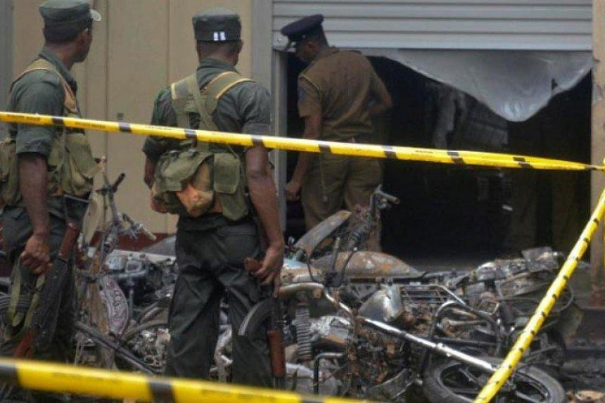Police are investigating an explosion, which was heard on April 25 from vacant land behind the magistrates court in the town of Pugoda, Sri Lanka.
