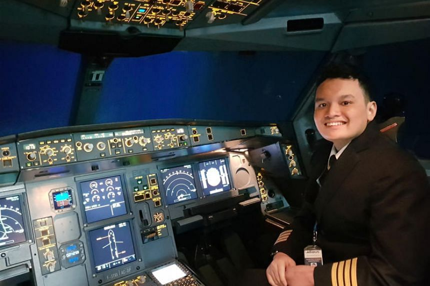 Lutfil Edy Widodo, 16, had his dream of being a pilot granted - he got to try his hand at flying an airplane simulator.