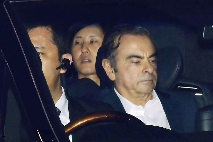 Ghosn leaves the Tokyo Detention House, April 25, 2019.
