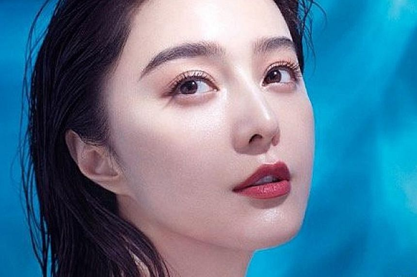 FANCY FAN'S FACE MASK?: Chinese actress Fan Bingbing's (above) rehabilitation seemed complete as she launched a water gel mask for her beauty brand, Fan Beauty, on Wednesday. She is known to be a keen user of face masks and a poster on Fan Beauty's