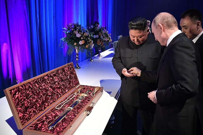 Kim Jong Un visits war memorial following summit with Putin