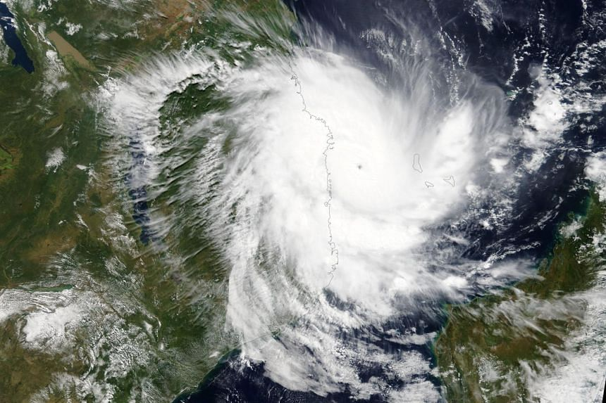 Cyclone Kenneth approaches Mozambique on April 25, 2019. The storm is expected to bring heavy rainfall, flooding and strong winds to Mozambique and Tanzania.