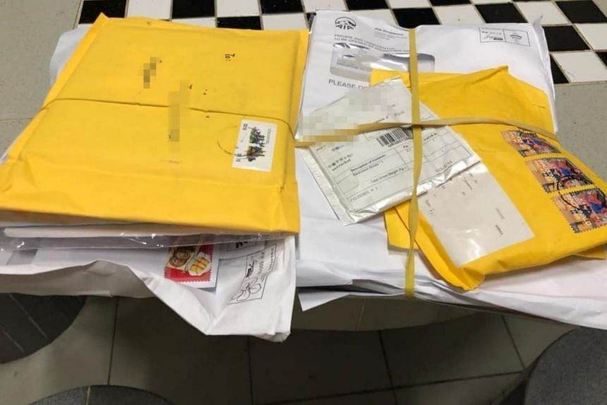 "Facebook user Joanne Li, in a post on April 25, said that she found several letters and parcels addressed to various units inside a ""wastepaper ditch"" next to the letterboxes."