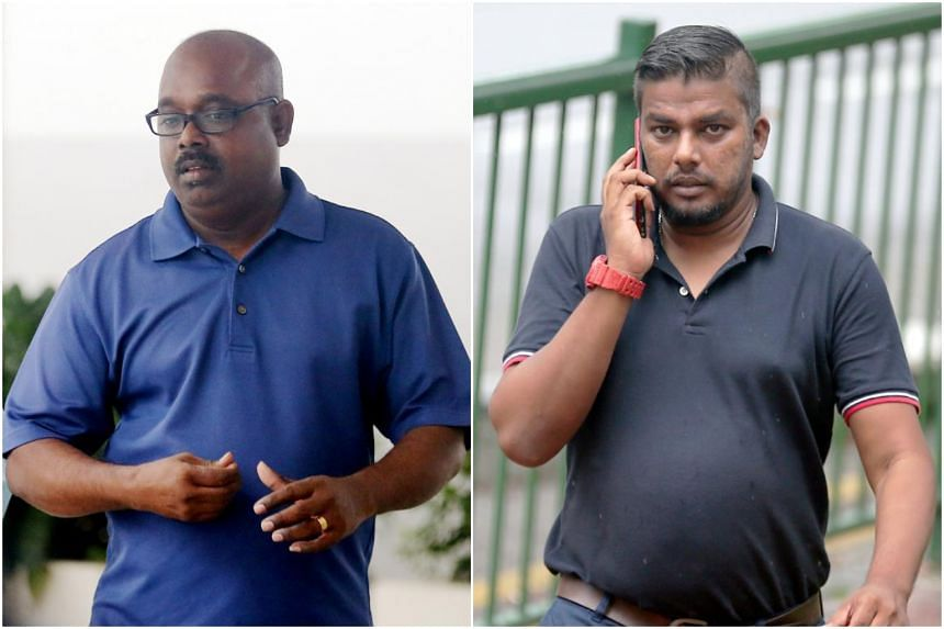 Ayyadurai Karunanithi (left) and Gerizim Kirubai Raj Deved are no longer working for the firms and the men who allegedly passed them the bribes are still at large.