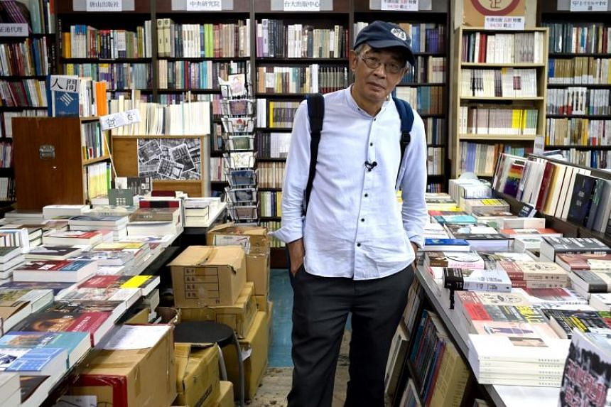 Hong Kong bookseller Lam Wing-kee at the Tonsan bookstore in Taipei on April 26, 2019.
