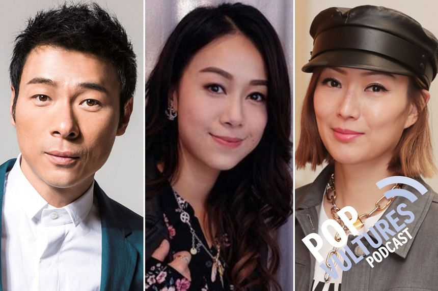 Hong Kong singer Andy Hui's (left) recent affair with TVB actress Jacqueline Wong (centre) - while being married to his superstar wife Sammi Cheng (right) - has dominated headlines in Chinese entertainment for over a week. The Pop Vultures discuss ch