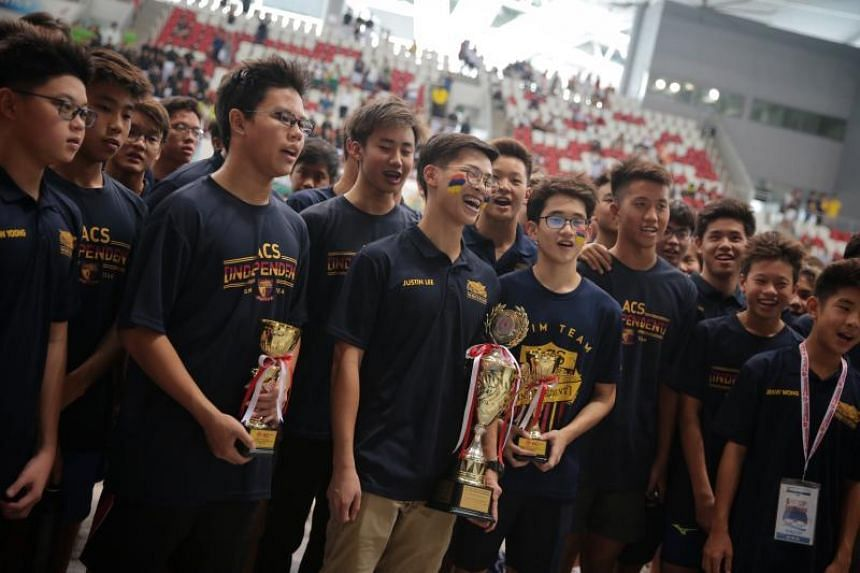 Anglo-Chinese School (Independent) swept the boys' overall titles.