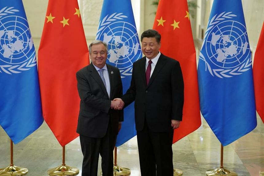 United Nations secretary-general Antonio Guterres said the Belt and Road Initiative can accelerate sustainable and green development, and provide funds needed for infrastructure in developing countries.