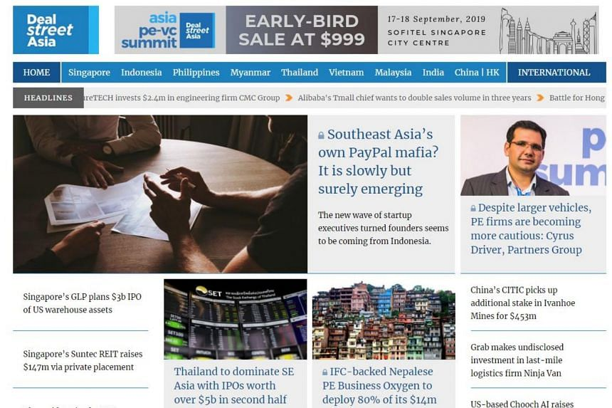 DealStreetAsia is a media startup that tracks private equity and venture capital activity across South-east Asia and India.
