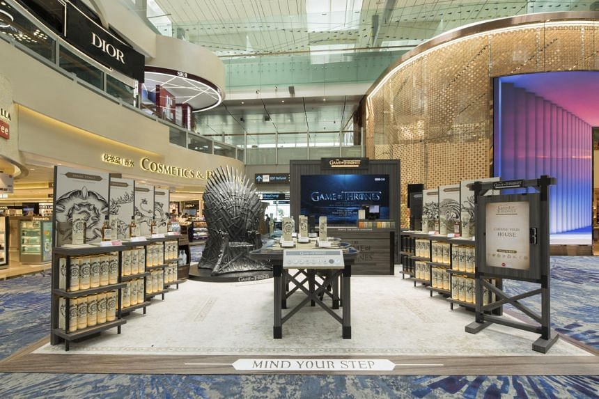 In conjunction with the limited-edition Game of Thrones Single Malt Scotch Whisky Collection, Diageo has launched a global exclusive pop-up at Changi Airport Terminal 3's departure hall.