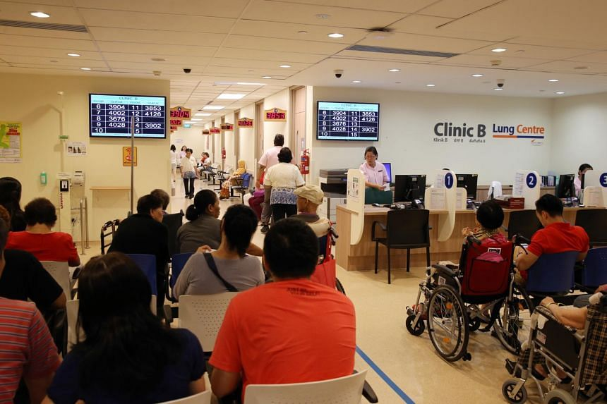 An outpatient clinic at SGH. Healthcare is one of the essential services that will lead to a rise in services inflation this year.