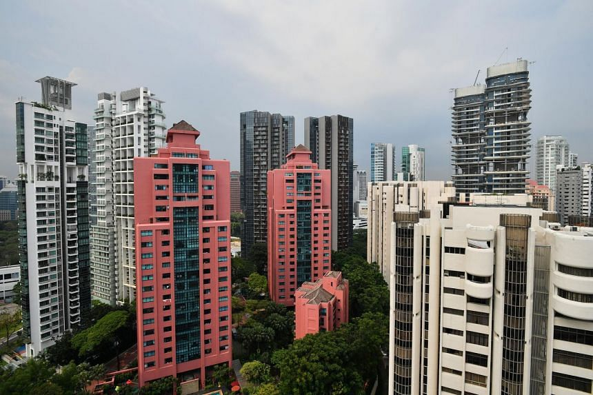 The drop in the first quarter was due to a 1.1 per cent fall in the prices of non-landed condominiums and private apartments.