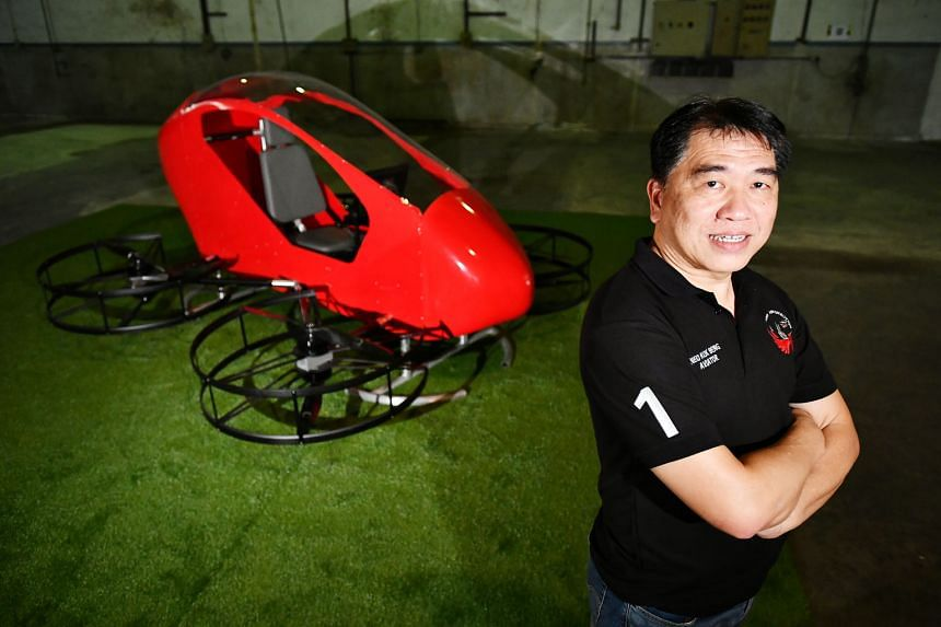 Neo Aeronautics founder and chief executive officer Neo Kok Beng says the Crimson S8 personal aerial vehicle is designed for low-level urban aerial mobility and facilitates door-to-door urban transport.