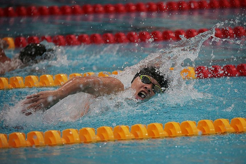 """Evergreen Secondary's Fo En Rui (finishing second in the boys' C Division 100m free in 55.62sec) is one of those not from the """"Big Five"""" schools who managed to win a medal."""