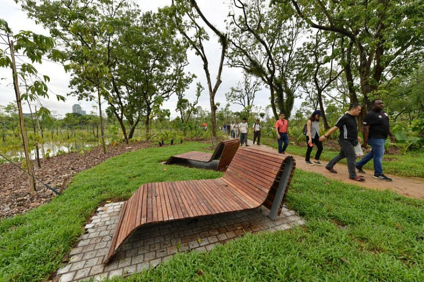 Guests at the opening of a section of Jurong Lake Gardens at Rasau Walk on April 27, 2019.