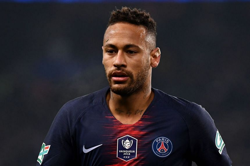 """Neymar (above) labelled the VAR system a """"disgrace"""" after Manchester United were awarded a decisive last-gap penalty."""