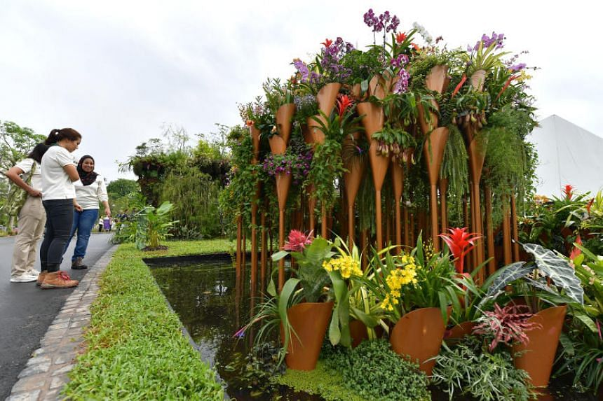Flora Tapestry, one of the designs on display during the SGF Horticulture Show at Lakeside Garden on its opening day.