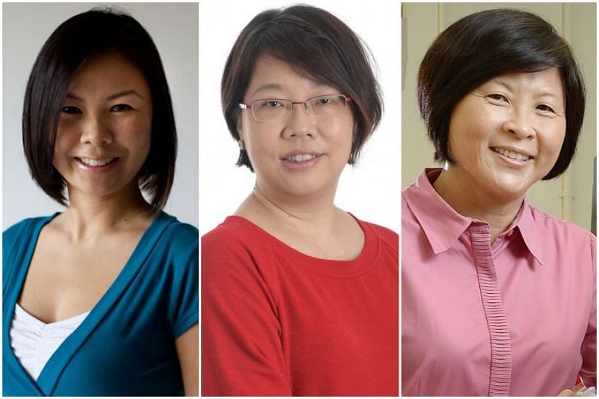 (From left) Ms Jessica Cheam, Ms Chua Mui Hoong and Ms Tan Poh Hong are joining a board that has long been male-dominated.