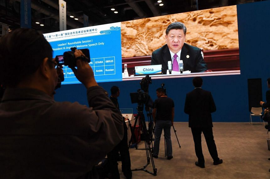 China has been fighting a festering trade war with the US for months, and Mr Xi Jinping has long sought to take the mantle of the new world power open to multilateral cooperation and globalisation.