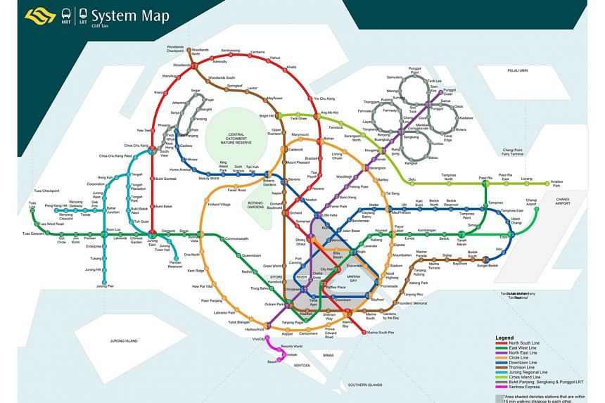 Architect Cliff Tan's redesign of the MRT system map features a cleaner and more rounded depiction of train lines.
