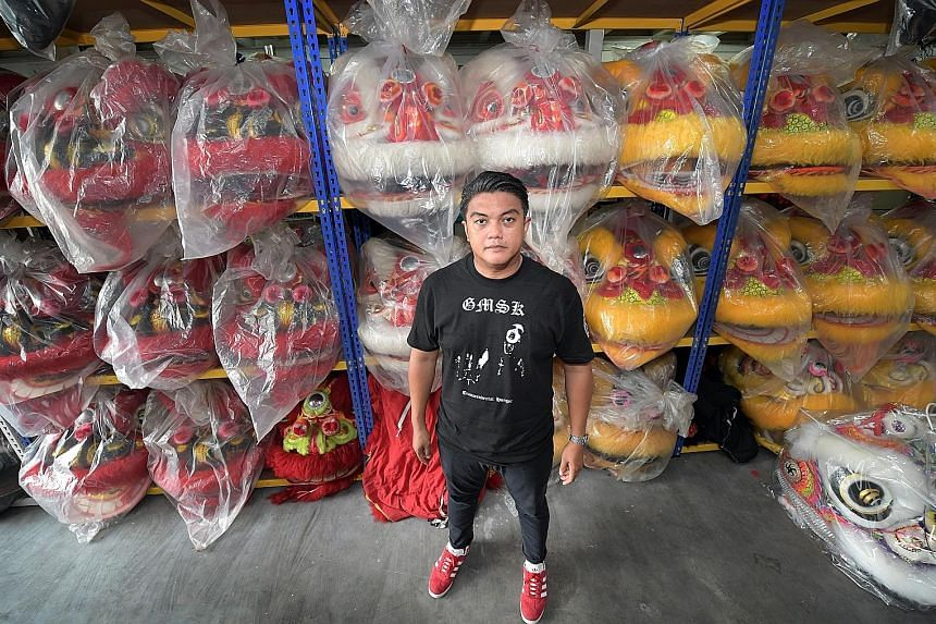 Briyani chef Ahmad Zahid Isnin's hobbies include death metal music and Chinese lion dance. Joining a troupe was one of his childhood dreams.