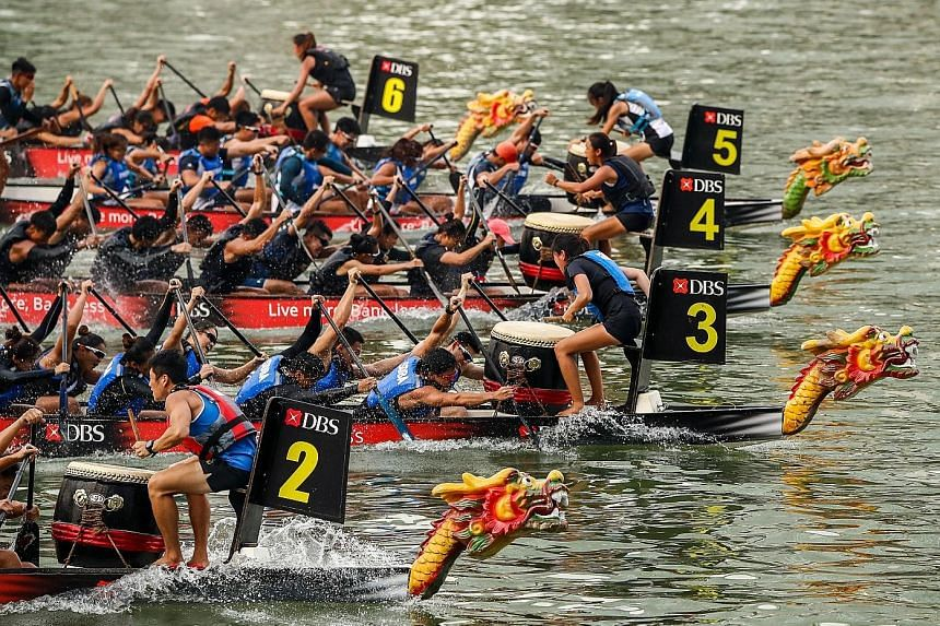 This year's DBS Marina Regatta will not only feature dragon boat races but also carnival activities centred around sustainability and environmental issues.