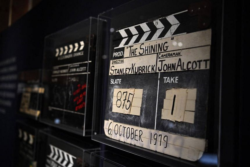 A clapper board used on various films are displayed at a preview of the Stanley Kubrick exhibition, at the Design Museum in London, Britain, on April 25, 2019.