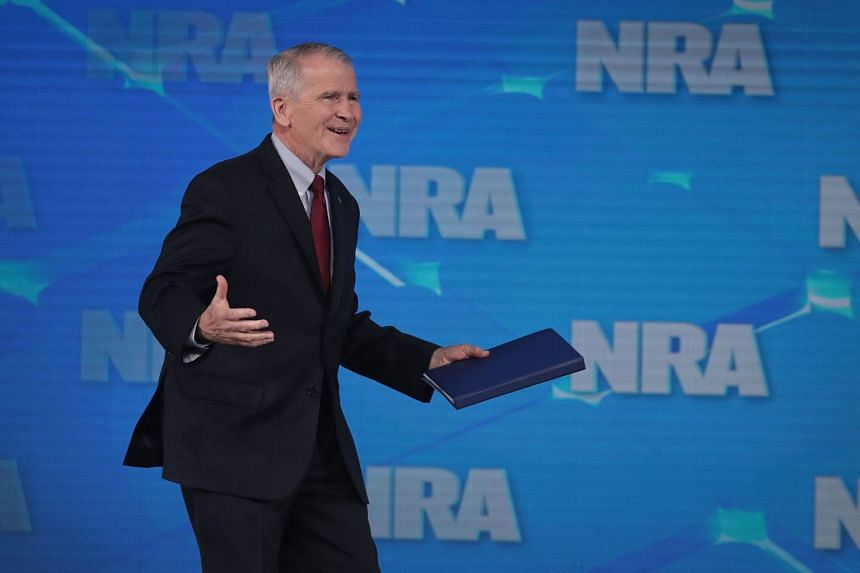 NRA president Oliver North has said he will not serve a second term.