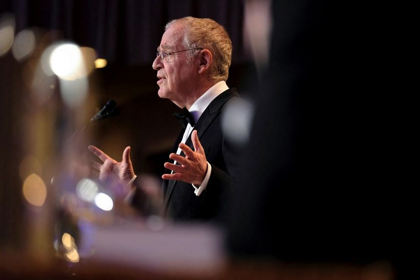 Author and historian Ron Chernow speaks at the annual White House Correspondents' Association dinner in Washington, on April 27, 2019.
