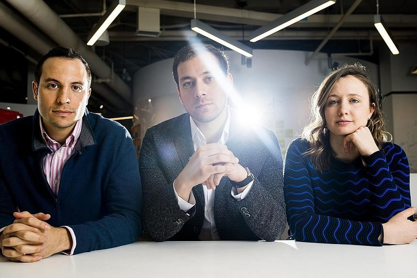 The founders of Legacy, a sperm-freezing company in Massachusetts, include (from left) Mr Daniel Madero, Mr Khaled Kteily and Ms Sarah Steinle.