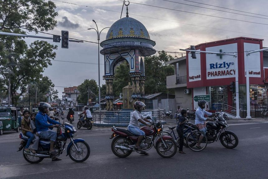 An intersection in Kattankudy, Sri Lanka, one of the few almost exclusively Muslim towns in Buddhist-majority Sri Lanka, where austre Wahhabism took root.