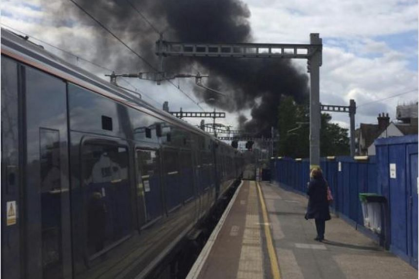Witnesses said large black plumes of smoke could be seen billowing into the sky from Heathrow airport.