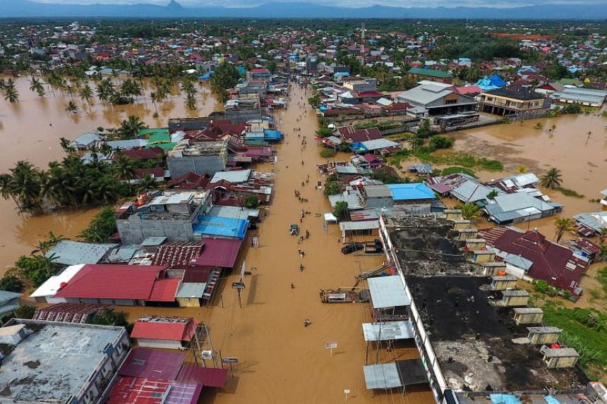 Indonesia's disaster agency confirmed 29 deaths and said at least 13 more people were missing after days of pounding storms on the island of Sumatra.