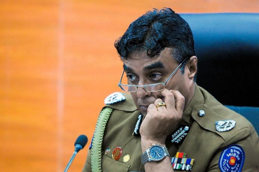 Sri Lankan President Maithripala Sirisena had accused police chief Pujith Jayasundara (above) of failing to act on intelligence reports warning that suicide bombers were likely to target churches.