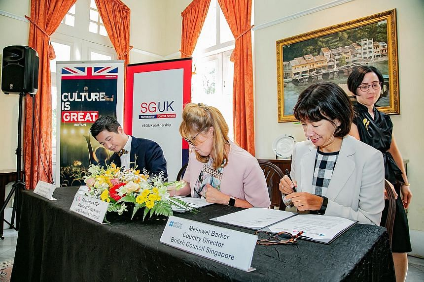 (From left) Mr Alvin Tan, deputy chief executive of policy and community at National Heritage Board (NHB); Ms Carol Rogers, National Museums Liverpool's director of engagement; and Ms Mei-kwei Barker, country director of the British Council Singapore